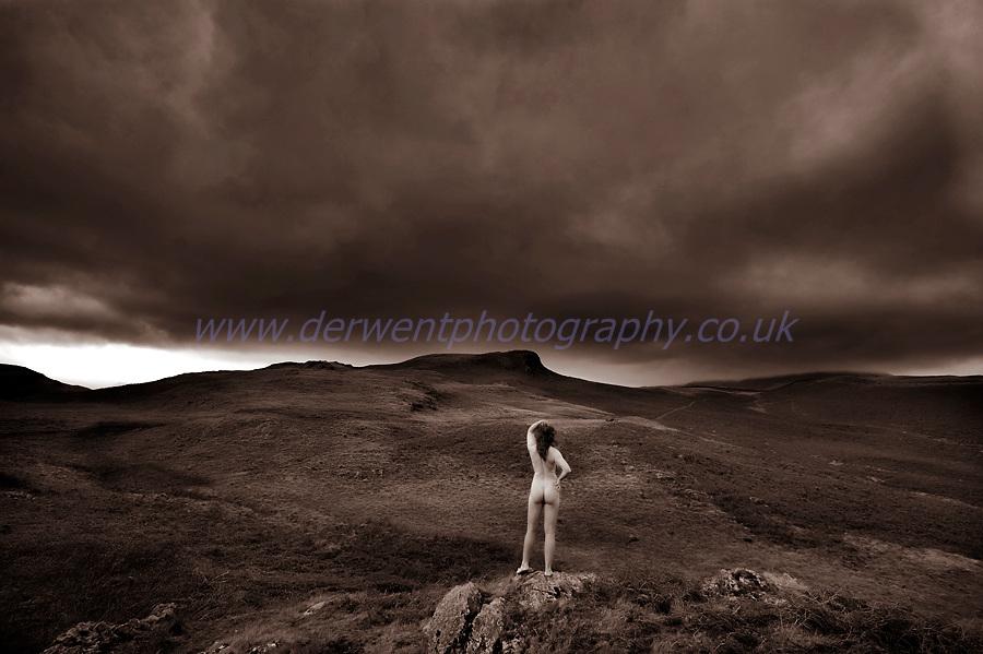 art nude portrait photograph in the lake district, cumbria