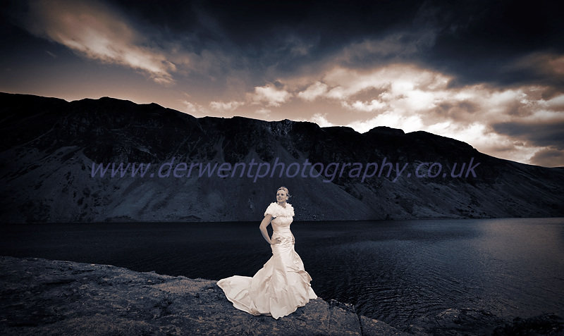 wedding photograph, wasdale head by derwent photography of cumbria
