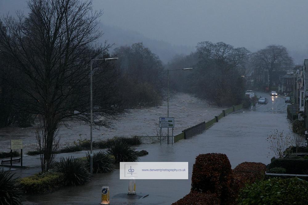 keswick floods as greta bursts its banks