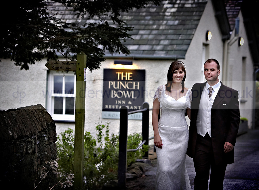 wedding photographer at the punchbowl inn in the lake district, cumbria