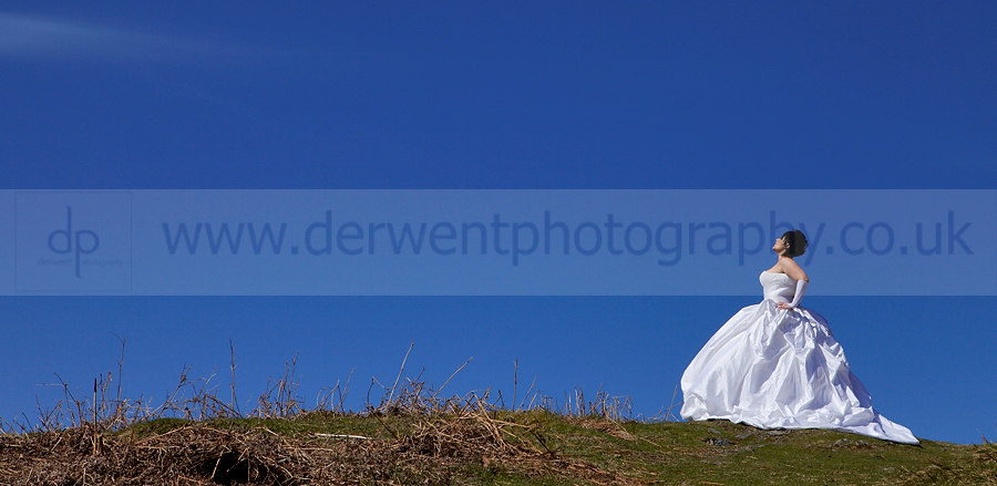 shoot or trash the dress in the lake district cumbria