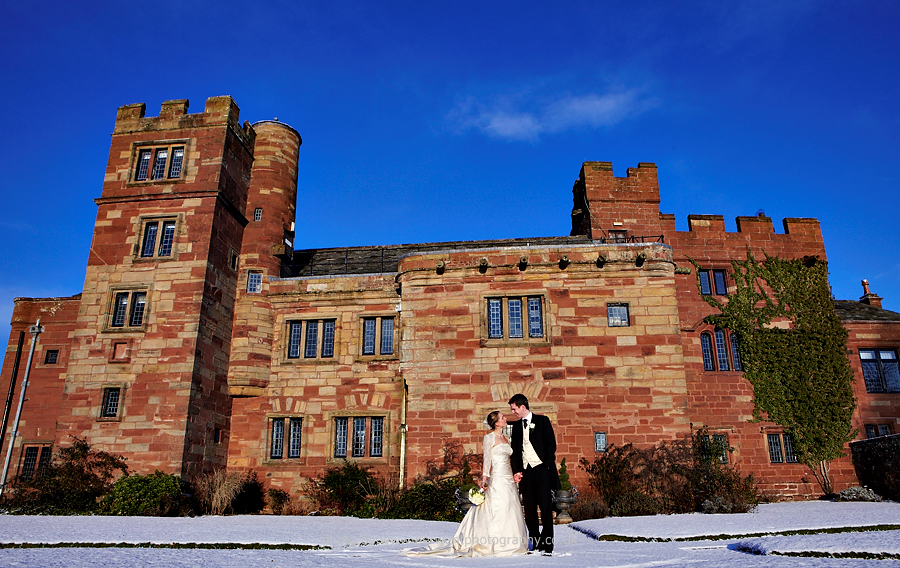 winter wedding photographer at dalston hall in cumbria