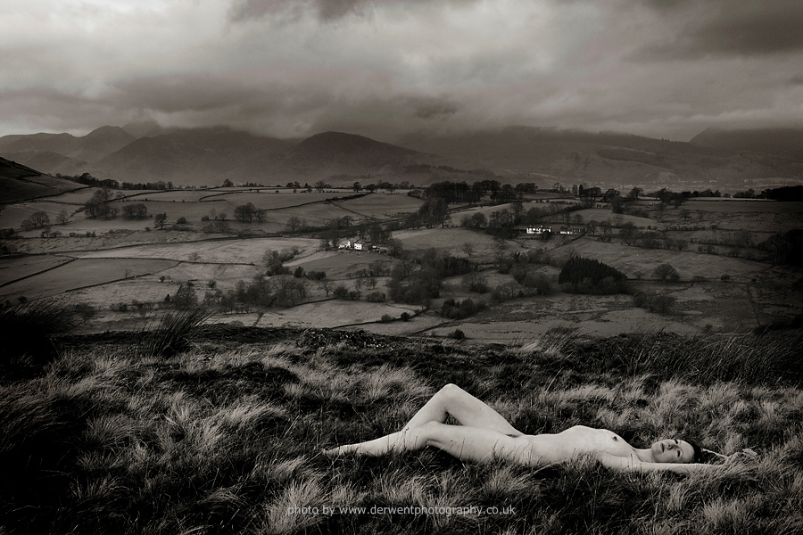 fine art nude in the lake district landscape photography