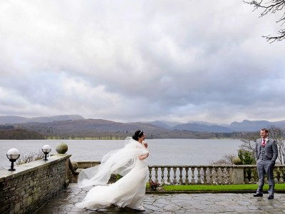 Christmas  lakes wedding at Langdale Chase- Penny & Anthony