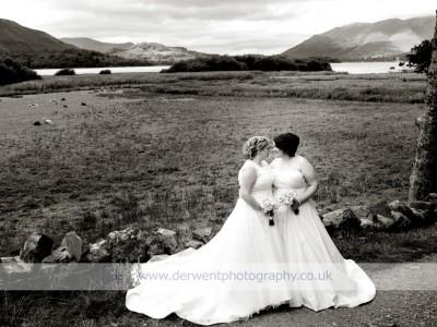 Lodore Falls wedding of Kate & Laura
