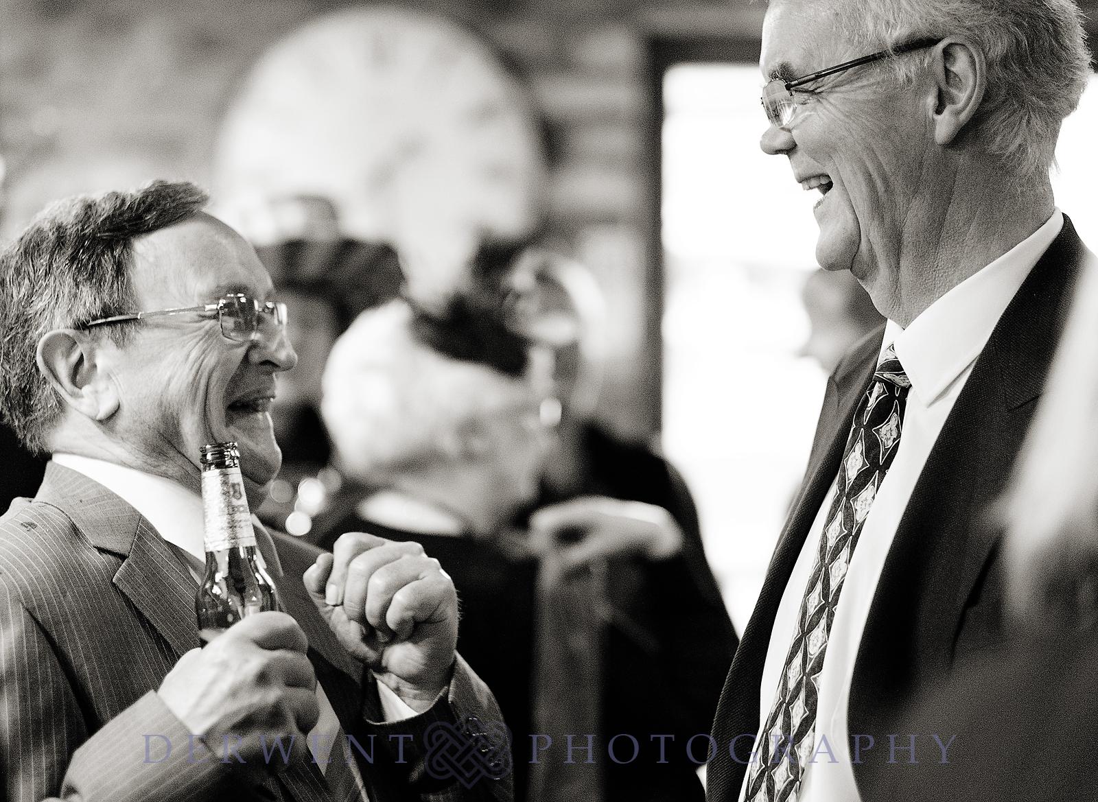pre wedding drinks in the barn