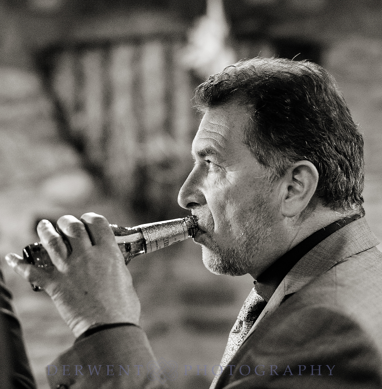wedding guest drinking