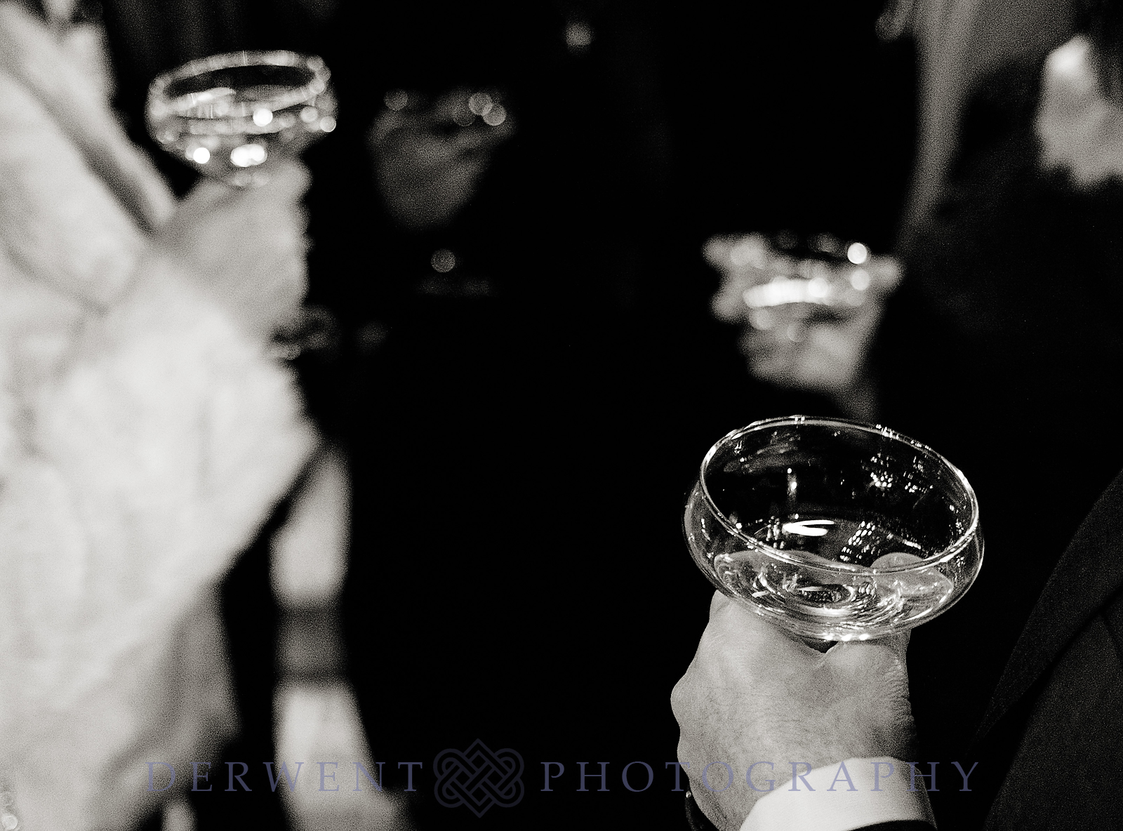 wedding drinks in bw
