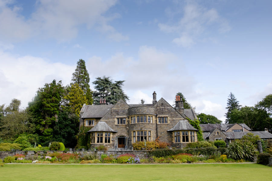 Sitting above lake windermere, the lake district wedding venue shown is the cragwood hotel