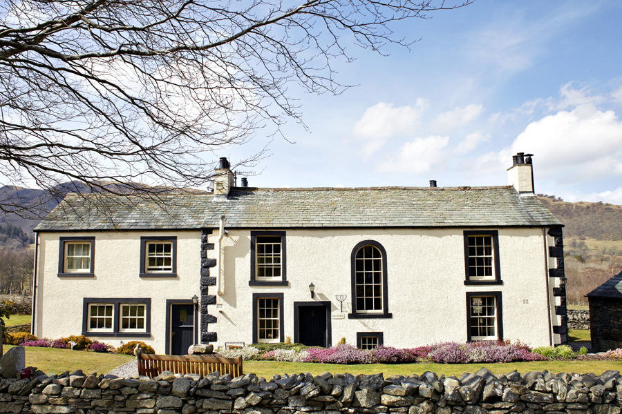 new house farm, a lake district wedding venue, nestling in the fields in the Lorton valley